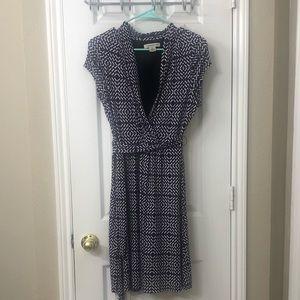 Faux wrap dress.